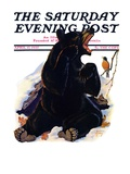 """End of Hibernation "" Saturday Evening Post Cover  April 17  1937"