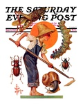 """Garden Pests "" Saturday Evening Post Cover  June 4  1932"