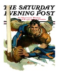 """Touchdown "" Saturday Evening Post Cover  November 21  1931"