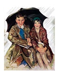 """Couple in Rain ""October 4  1930"