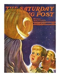 """Trick or Treaters "" Saturday Evening Post Cover  October 30  1937"