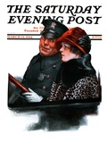 """Police Escort "" Saturday Evening Post Cover  March 15  1924"
