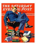 """Motivated to Sleep "" Saturday Evening Post Cover  May 7  1938"