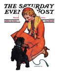 """Woman and Scottie "" Saturday Evening Post Cover  April 16  1932"