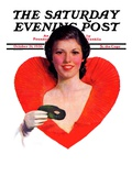 """""""Halloween Party-Goer """" Saturday Evening Post Cover  October 31  1936"""