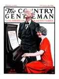 """""""Singing the Old Oaken Bucket """" Country Gentleman Cover  February 17  1923"""