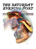 """""""Twin Outfits """" Saturday Evening Post Cover  September 19  1936"""