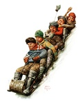 """Tobogganing ""January 7  1928"