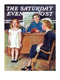 """In Front of the The Class "" Saturday Evening Post Cover  April 30  1938"