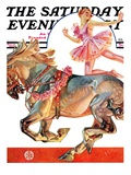 """Circus Bareback Rider "" Saturday Evening Post Cover  May 14  1932"