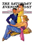 """The Newport Set "" Saturday Evening Post Cover  June 27  1931"