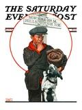"""Runaway Boy "" Saturday Evening Post Cover  May 17  1924"