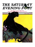 """""""Black Panther """" Saturday Evening Post Cover  August 13  1932"""