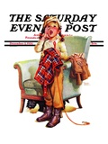 """Here Boy! "" Saturday Evening Post Cover  December 5  1936"