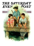 """Crabbing "" Saturday Evening Post Cover  August 1  1931"