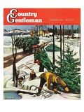 """Harvesting Christmas Trees "" Country Gentleman Cover  December 1  1942"