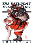 """Hug from Santa "" Saturday Evening Post Cover  December 26  1925"