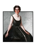 """Woman in Black Gown ""March 29  1924"