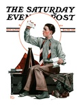 """Dad  Where's the Cash "" Saturday Evening Post Cover  November 14  1925"