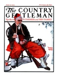 """""""Cleaning His Gun """" Country Gentleman Cover  June 30  1923"""