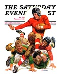 """College Football "" Saturday Evening Post Cover  October 15  1932"