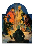 """Skaters' Bonfire ""February 21  1931"