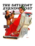 """Fill'er Up "" Saturday Evening Post Cover  April 3  1937"