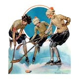 """Girls Playing Ice Hockey ""February 23  1929"