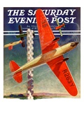 """Airshow "" Saturday Evening Post Cover  September 4  1937"