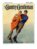 """Skating Couple "" Country Gentleman Cover  February 1  1928"