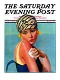 """Sunburned Sunbather "" Saturday Evening Post Cover  July 6  1929"