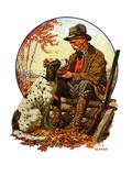 &quot;Hunter and Spaniel &quot;November 3  1928