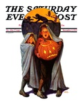 """Halloween Scare,"" Saturday Evening Post Cover, November 2, 1935 Giclée par Frederic Stanley"