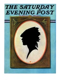 """A Silhouette "" Saturday Evening Post Cover  May 11  1929"