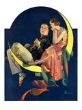 """Crescent Moon Couple ""June 14  1930"