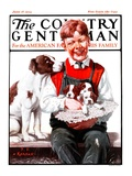 """""""Hat Full of Puppies """" Country Gentleman Cover  June 16  1923"""