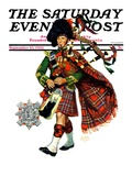 """""""Bagpipes """" Saturday Evening Post Cover  September 10  1932"""
