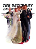"""Kissing the Best Man "" Saturday Evening Post Cover  June 5  1937"