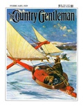 """Ice Boating "" Country Gentleman Cover  February 1  1929"