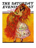 """Female Flamenco Dancer "" Saturday Evening Post Cover  May 21  1932"