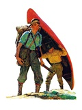 """Canoe Portage ""March 24  1934"