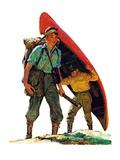 """Canoe Portage ""March 24  1934"