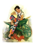 """Woman in Wheelbarrow ""June 20  1931"