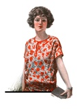 """Woman in Floral Print ""January 27  1923"