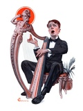 """Offkey Harpist ""April 4  1925"