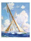 """Sailboat Regatta,""September 8, 1934 Giclée par Anton Otto Fischer"