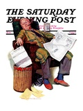 """Tax Deadline "" Saturday Evening Post Cover  March 19  1938"
