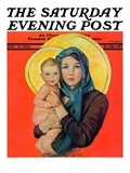 """Madonna and Child "" Saturday Evening Post Cover  December 17  1932"