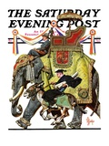 """Political Party Symbols "" Saturday Evening Post Cover  October 17  1936"
