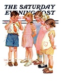 &quot;Making Faces &quot; Saturday Evening Post Cover  July 10  1937